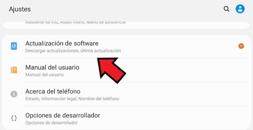 actualizar samsung android