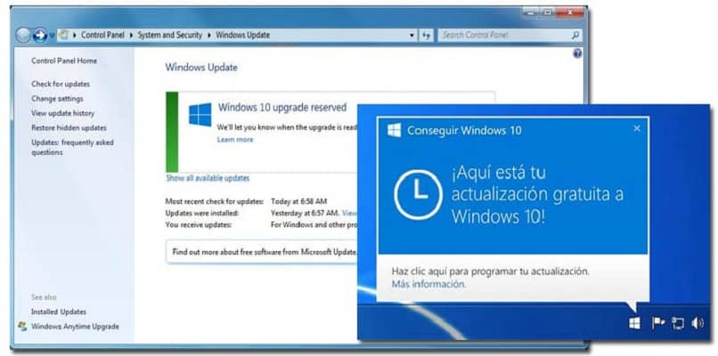 actualizando la version del sistema windows 10