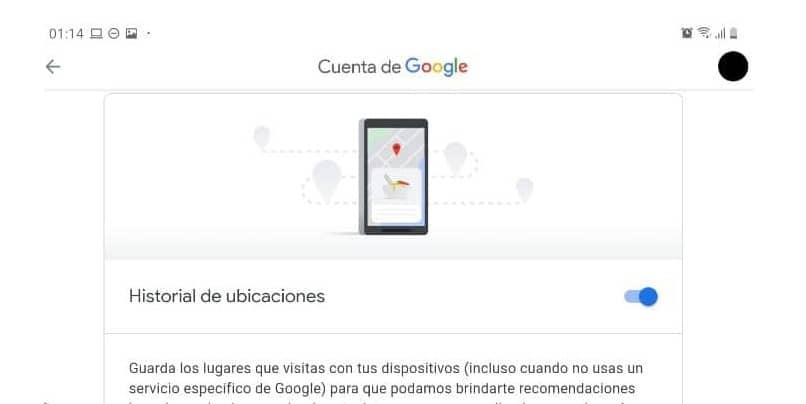 administrar historial ubicaciones maps google