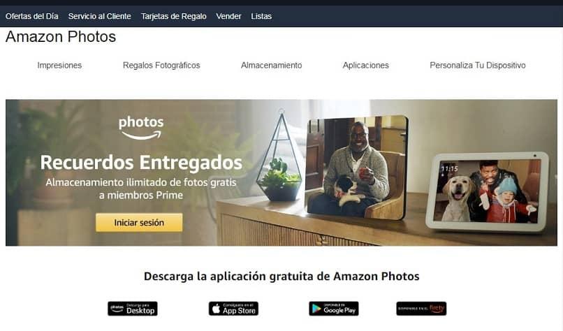 pagina inicio amazon photos