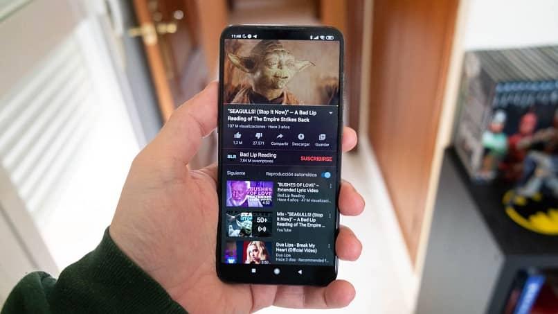 youtube funcionando en android