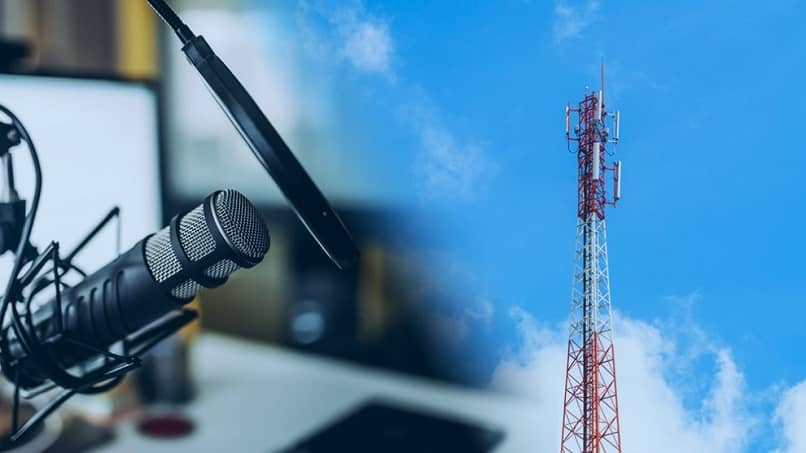 antena emitir senal escuchar radio