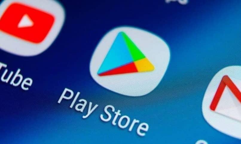 icono de la aplicacion google play en el movil