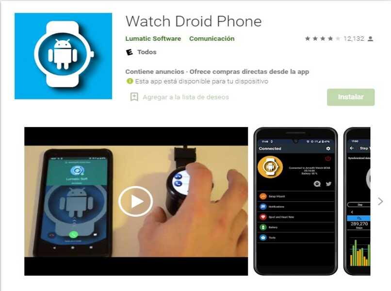 aplicacion para smartwatch