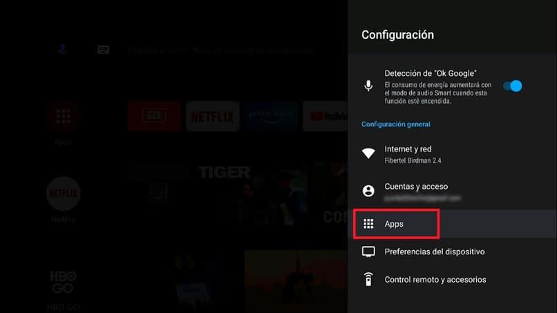 configurar aplicaciones en android tv