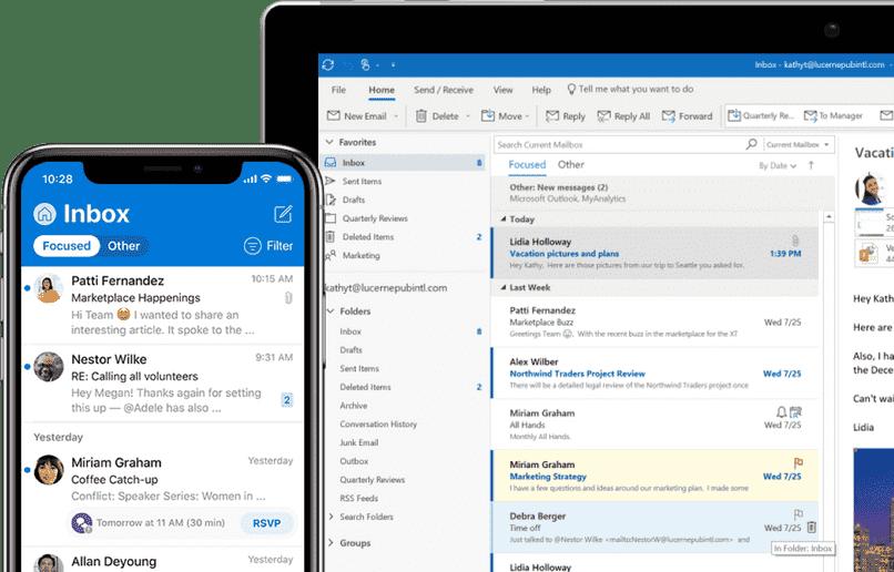 sincronizar calendario tareas contactos outlook en mi celular