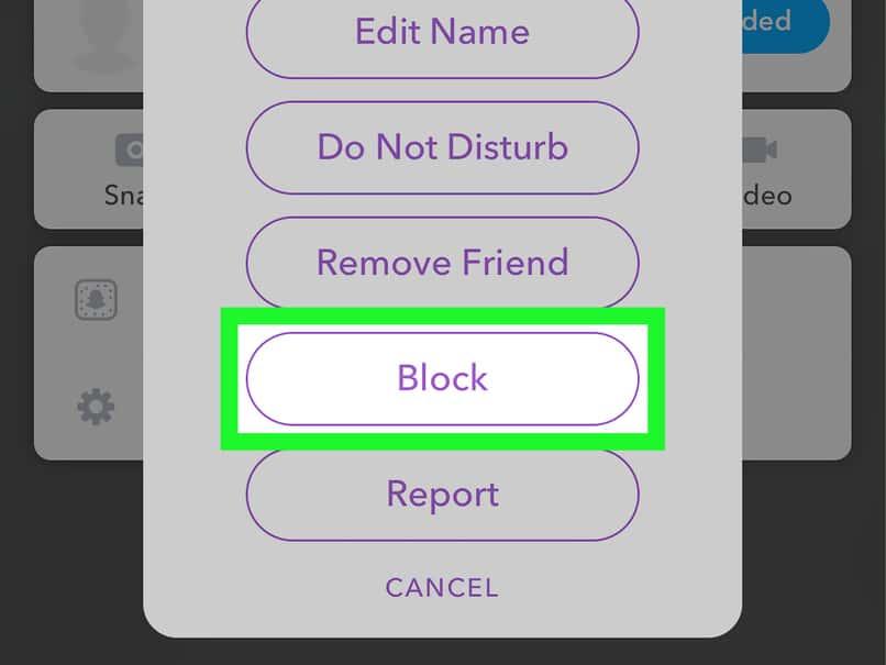 bloquear amigo en snapchat