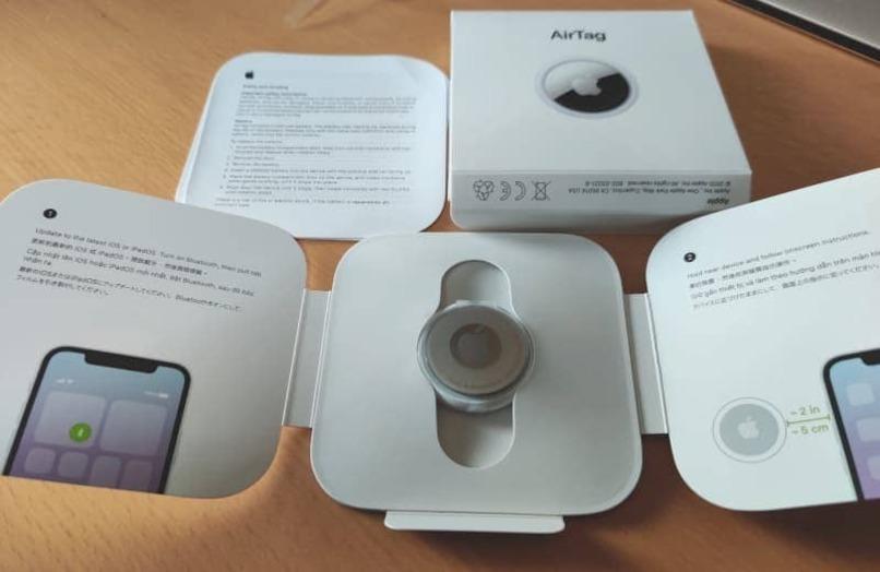 airtag caja manual