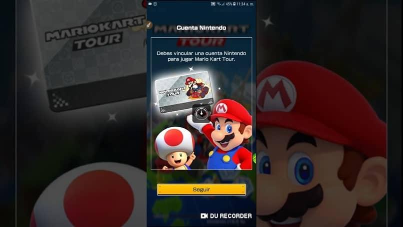 captura de pantalla del formulario para crear una cuenta de nintendo