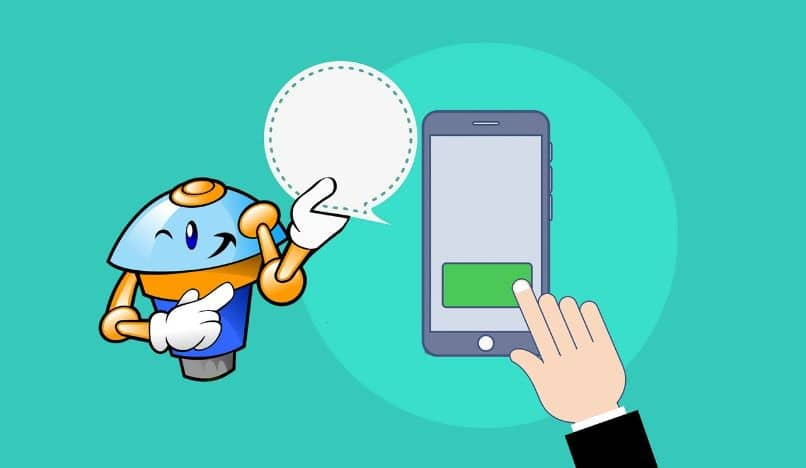 chat bot y smartphone dibujo