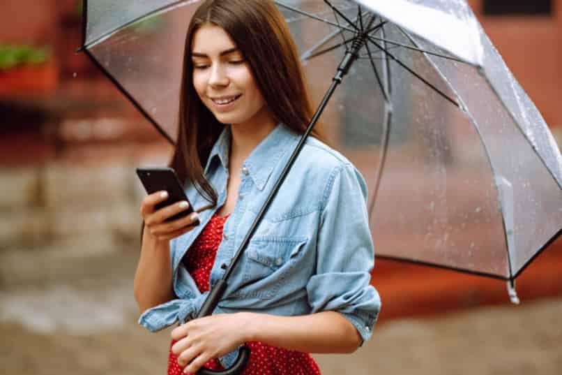 alarma para lluvia en mi celular