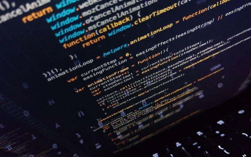 codigos de script en computadora