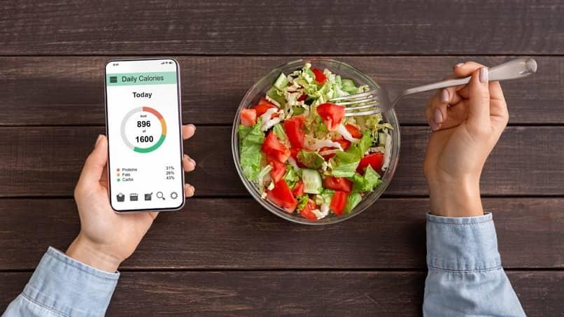 dietas comer sano telefono ensalada