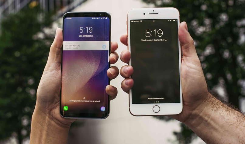compracion de dispositivos iphone