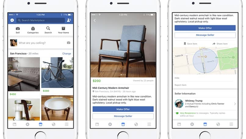 venta de productos atraves de marketplace de facebook