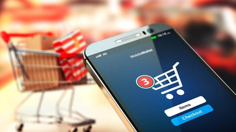 comprar productos online desde telefono inteligente