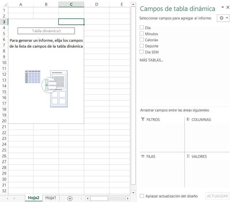 creacion de tabla dinamica en excel