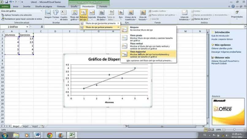 crear un grafico de dispersion usando excel
