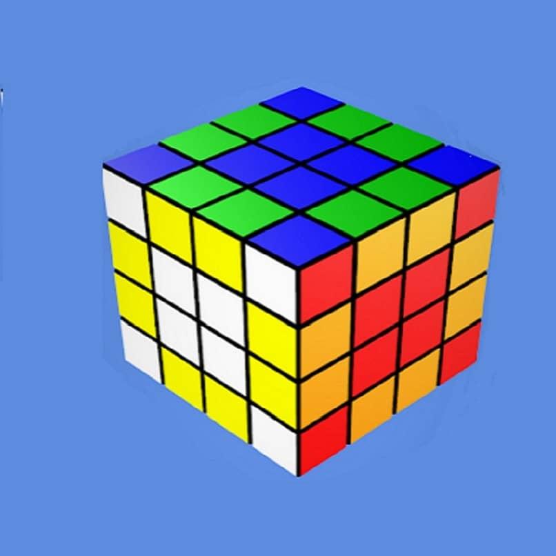 vista de cubo rubik 3d