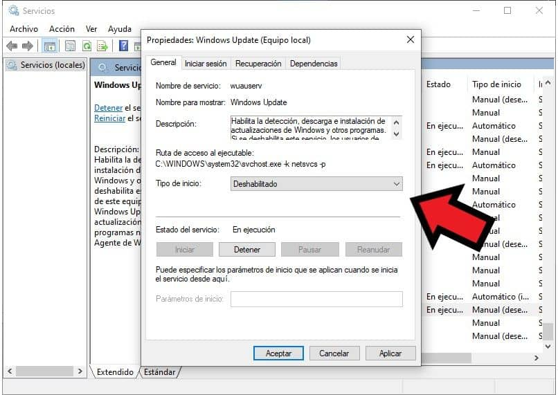 desactivar actualizaciones windows 10