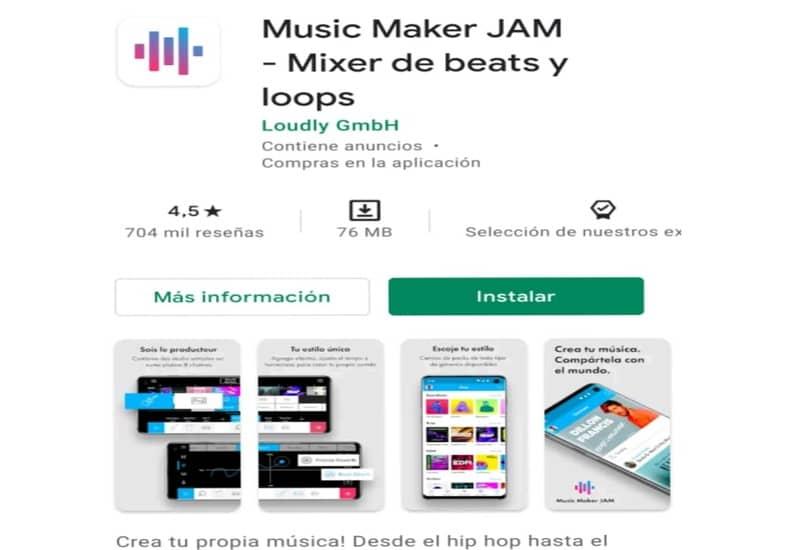 presentacion app music maker jam