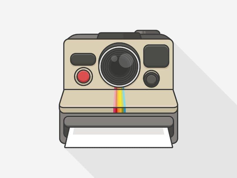 dibujo de camara de fotos instantaneas