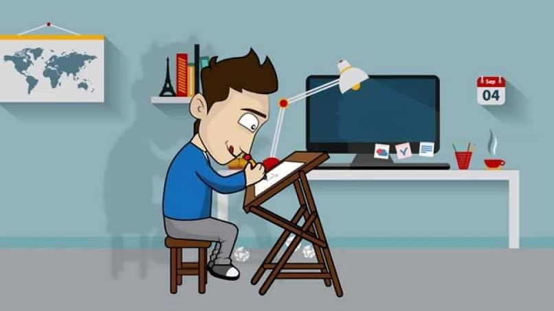 dibujo de disenador grafico