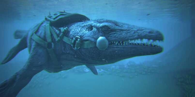 mosasaurio sumergido ark
