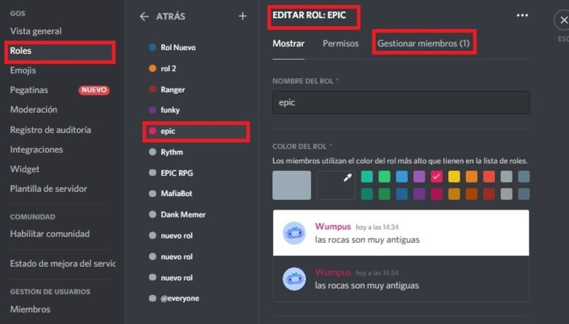 member management for roles in discord