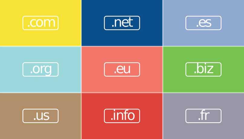 diferentes dominios internet