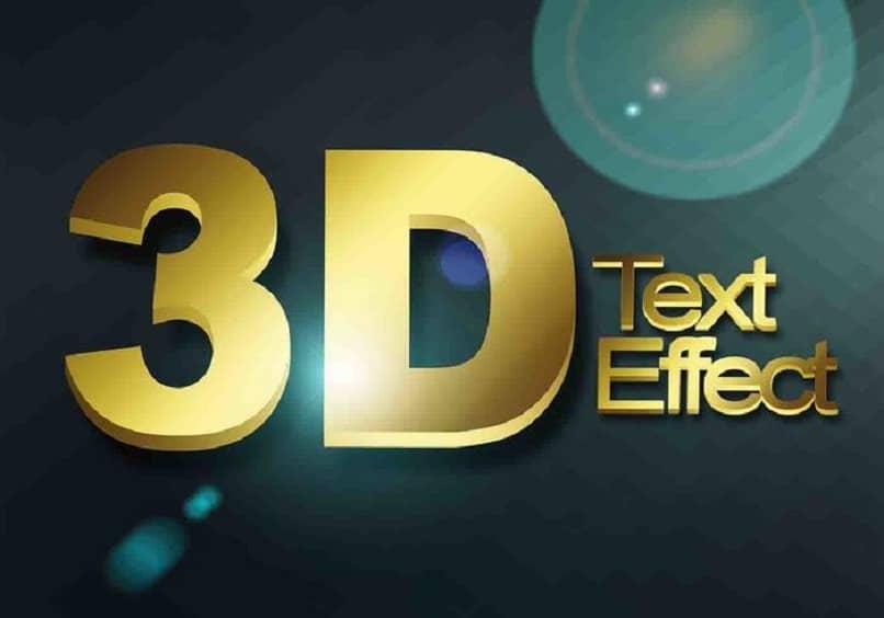 texto en 3d dorado con fondo azul oscuro