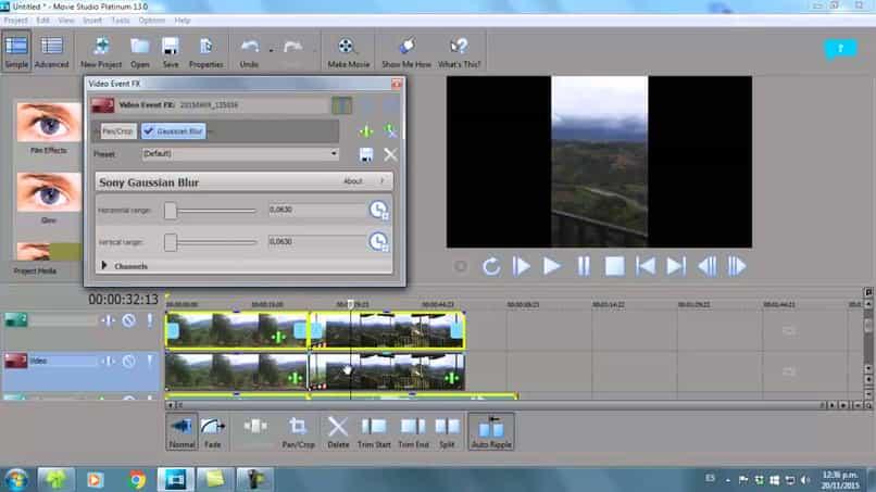 fondo borroso desenfocado videos sony vegas pro