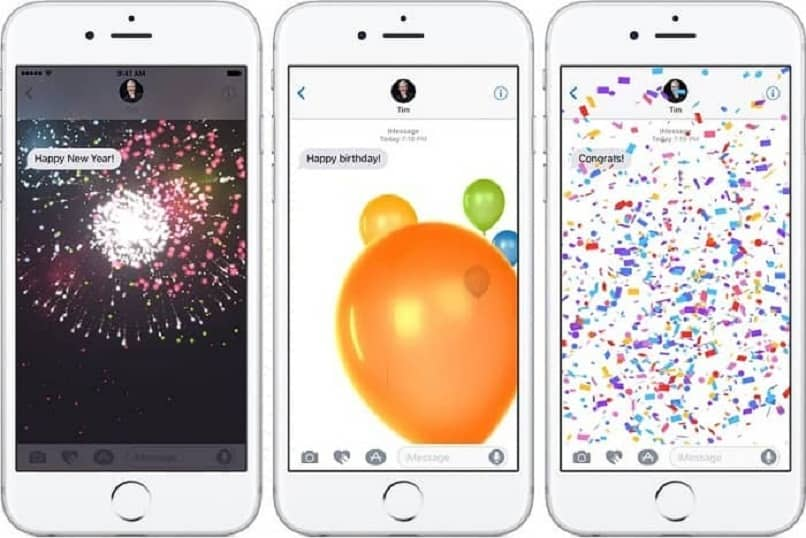 efectos en imessage desde iphone
