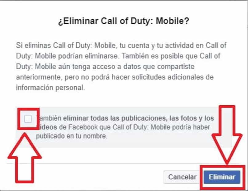 eliminar cuenta de call of duty de facebook