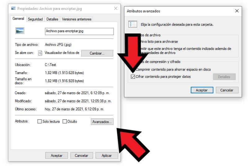 encriptar archivos carpetas windows
