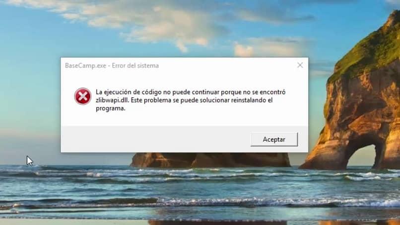 solucion al error en windows