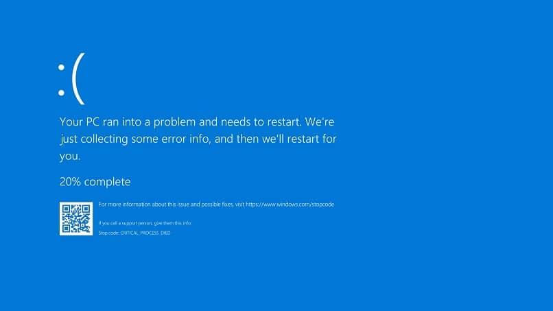 pantalla azul error actualizar windows
