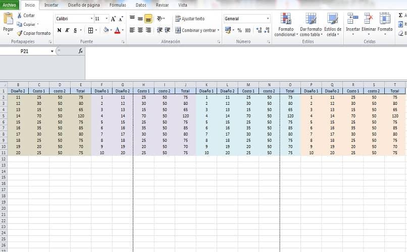 imagen con una tabla elabora en exel