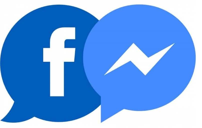 logos de facebook y messenger