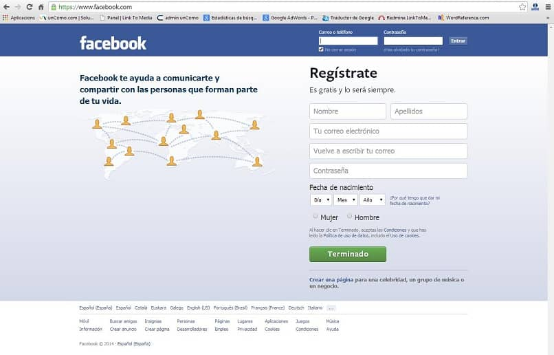 facebook web iniciar sesion