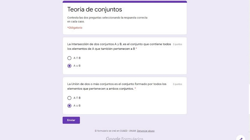 formularios tareas examenes google classroom