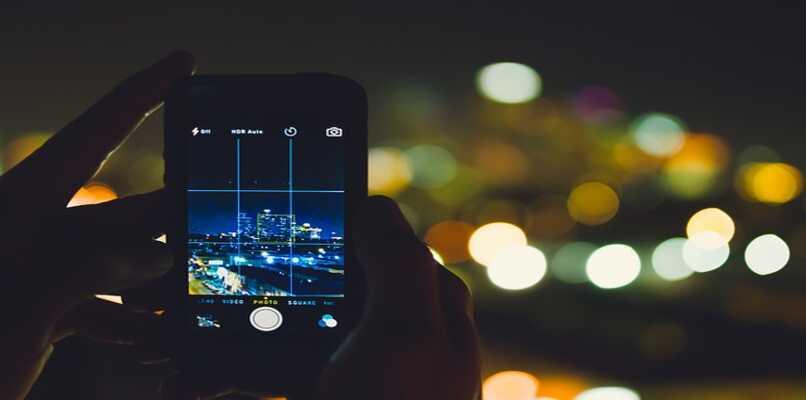 foto nocturna con telefono