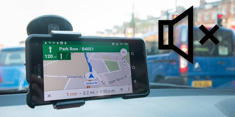 usando google maps en el movil