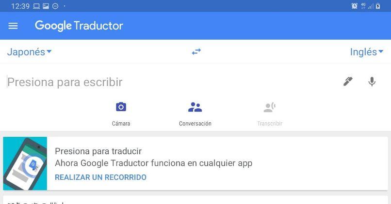 google traductor camara funciones voz