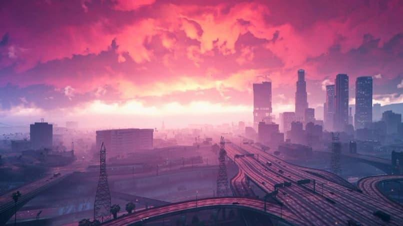 panorama de ciudad en gta v