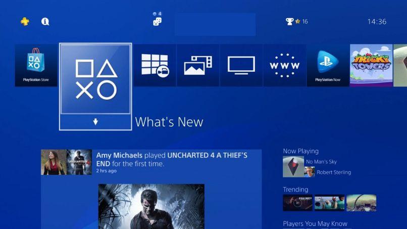 menu playstation consola