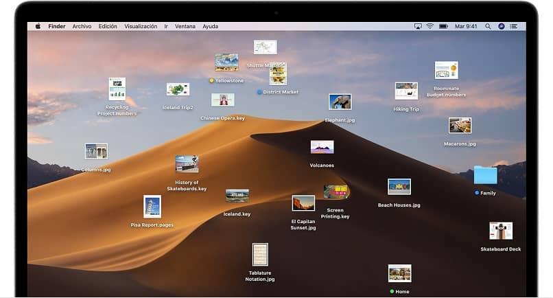 archivos escritorio desordenado mac