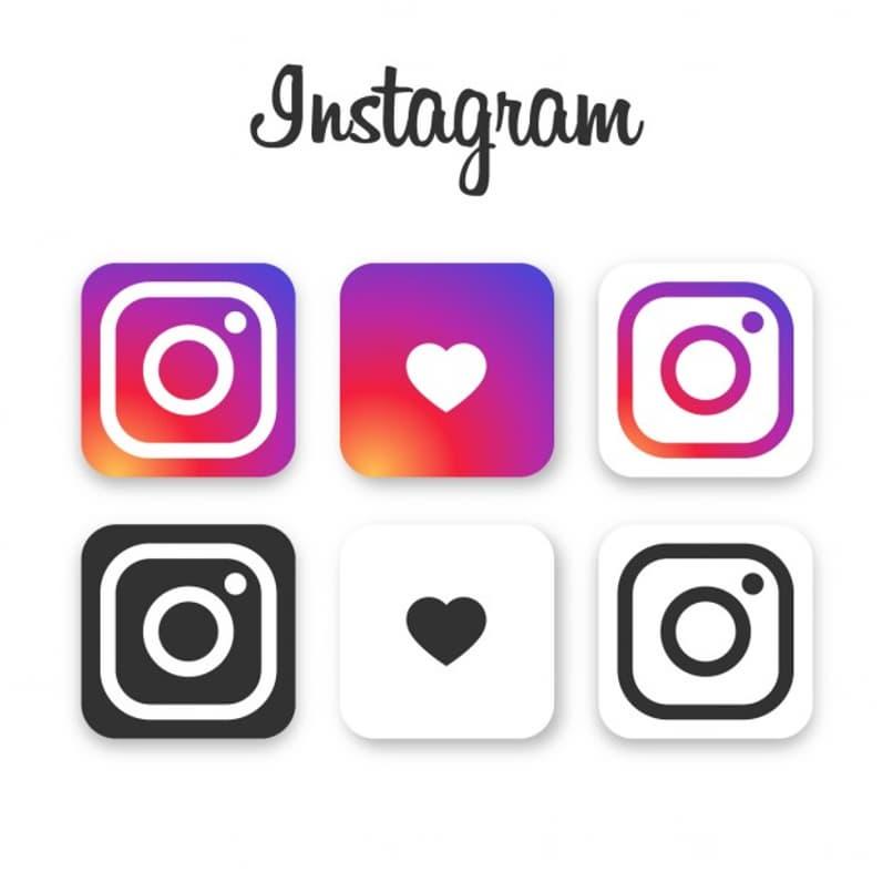 iconos de instagram en diferentes colores