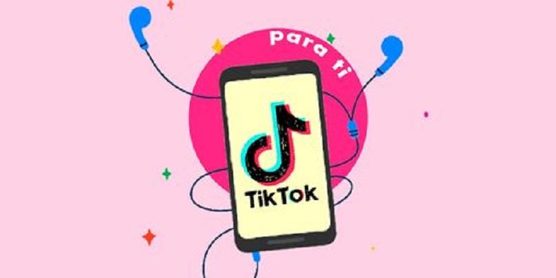 ilustracion de un telefono con el logo de tik tok