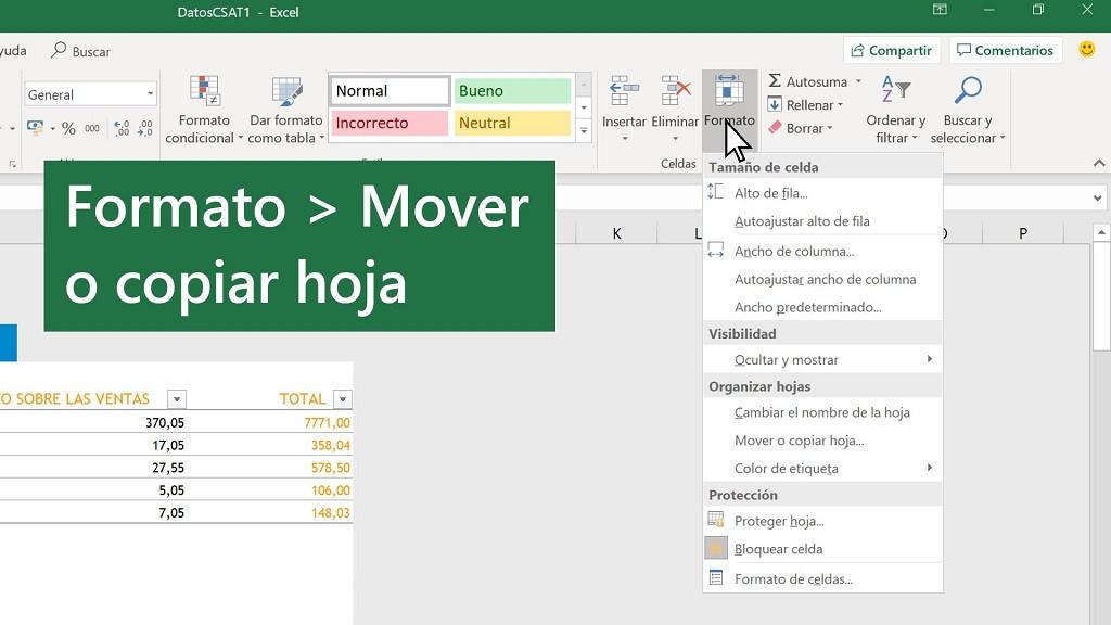 Cómo copiar una hoja de Excel a otro libro en Excel sin perder el formato